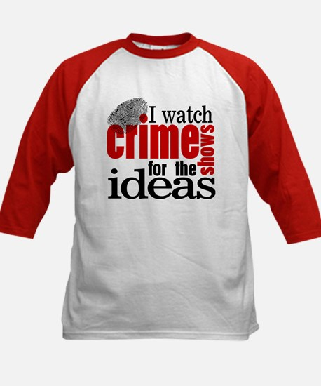 Crime Show Ideas Kids Baseball Jersey