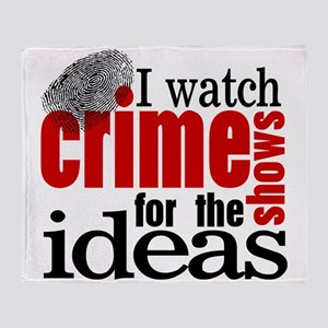 Crime Show Ideas Throw Blanket
