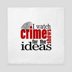 Crime Show Ideas Queen Duvet