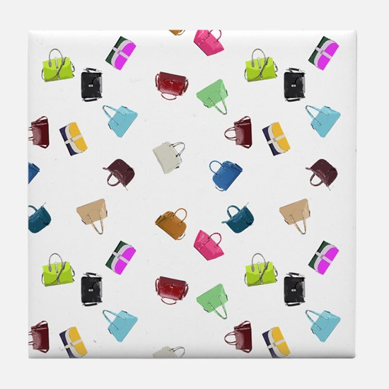Colorful Handbags Tile Coaster