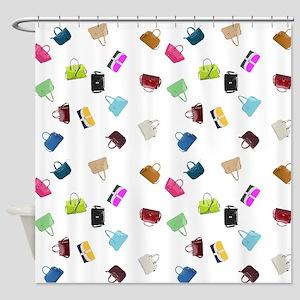Colorful Handbags Shower Curtain