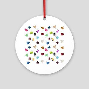 Colorful Handbags Round Ornament