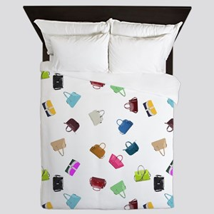 Colorful Handbags Queen Duvet