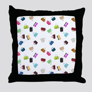Colorful Handbags Throw Pillow