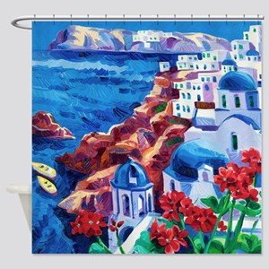 Greek Oil Painting Shower Curtain