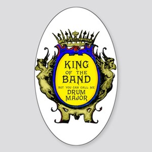 King of the Band Oval Sticker