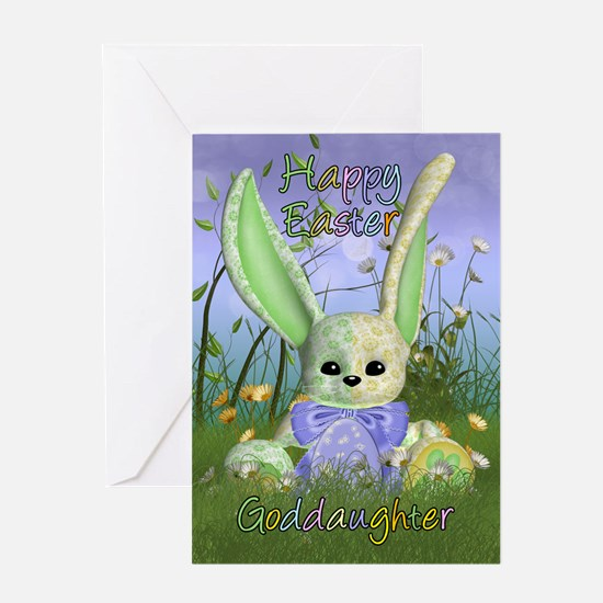 Gifts for goddaughter easter unique goddaughter easter gift goddaughter easter bunny spring greeting card with negle Gallery