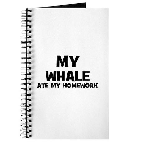 My Whale Ate My Homework Journal