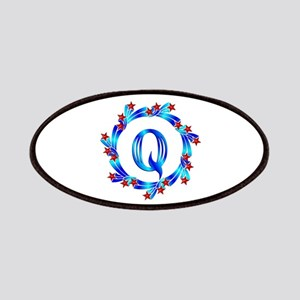 Blue Letter Q Monogram Patches