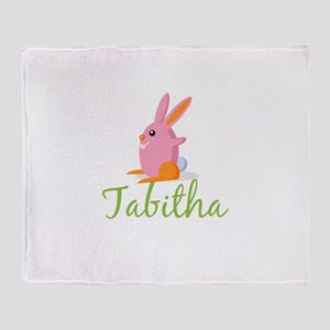 Easter Bunny Tabitha Throw Blanket
