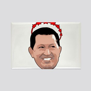 Hugo Chavez Red Crown Rectangle Magnet