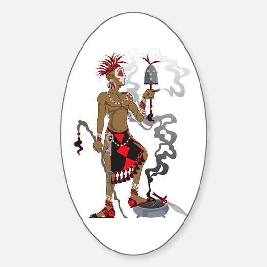 Eleggua Sticker (Oval)