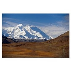 Mt McKinley and Alaska Range, Denali National Park Poster