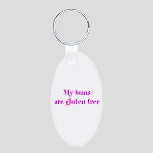 my buns are gluten free Keychains