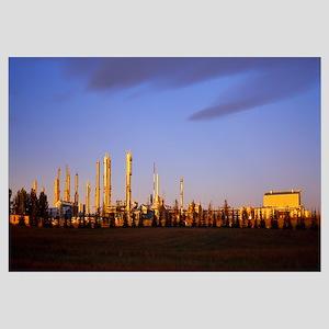 Oil industry at sunrise, Cochrane Gas Plant, Cochr