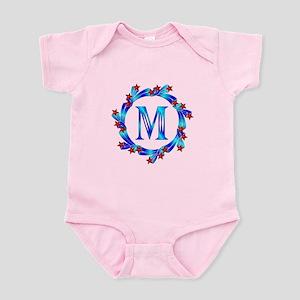 Blue Letter M Monogram Infant Bodysuit