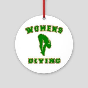Womens Diving Ceramic Ornament