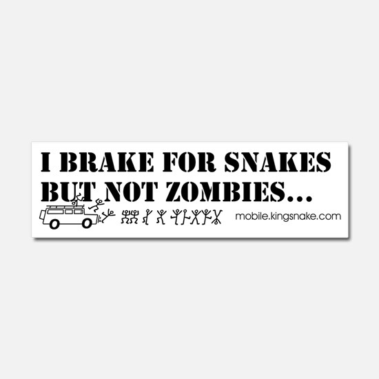 Brake for Snakes Not Zombies KS Car Magnet 10 x 3