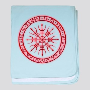 Aegishjalmur: Viking Protection Rune baby blanket
