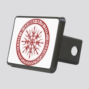 Aegishjalmur: Viking Protection Rune Hitch Cover