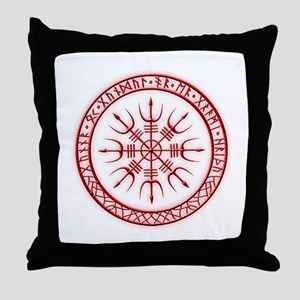 Aegishjalmur: Viking Protection Rune Throw Pillow