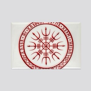 Aegishjalmur: Viking Protection Rune Rectangle Mag