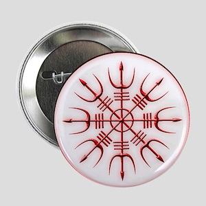 "Aegishjalmur: Viking Protection Rune 2.25"" Button"