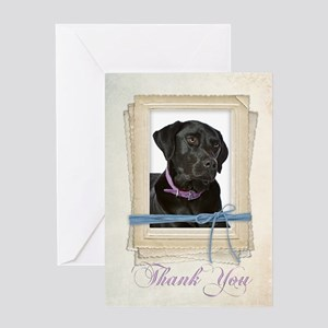 Black Lab Thank You Card