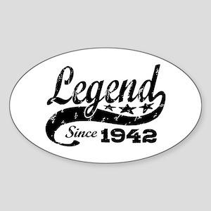 Legend Since 1942 Sticker (Oval)