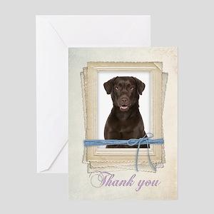 Chocolate Lab Thank You Card