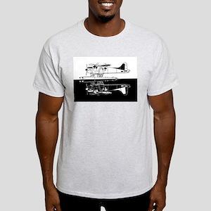 Indiscrete Seaplane Negative Combo Mirror T-Shirt
