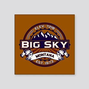 "Big Sky Vibrant Square Sticker 3"" x 3"""