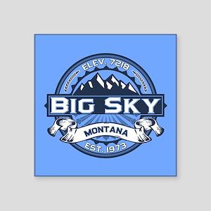 """Big Sky Blue Square Sticker 3"""" x 3"""""""