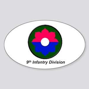 9th Infantry Division Oval Sticker