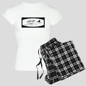 Indiscrete Seaplane Black White Oval Pajamas