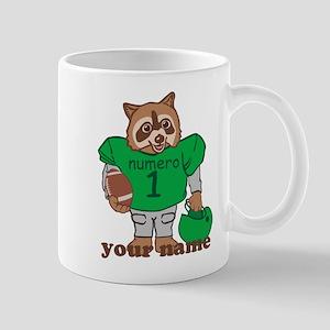 Personalized Football Raccoon Mug