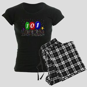 101st Birthday Women's Dark Pajamas