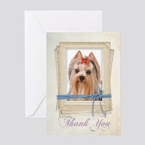 Yorkie Thank You Card