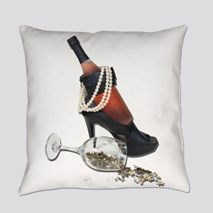 WineBottleHeelsPearlsAndStars01021 Everyday Pillow