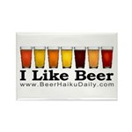 Beer Haiku Daily Rectangle Magnet (10 pack)