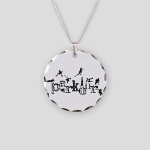 Parkour Necklace Circle Charm