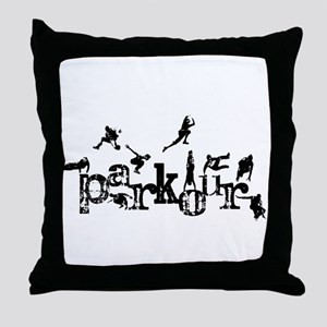 Parkour Throw Pillow