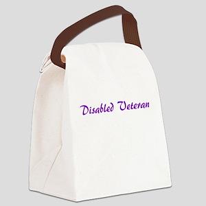 Purple Disabled Veteran Logo Canvas Lunch Bag
