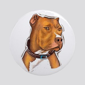 Pit Bull Beauty Ornament (Round)