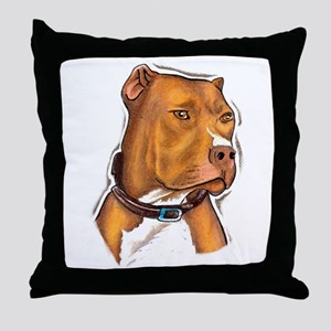 Pit Bull Beauty Throw Pillow