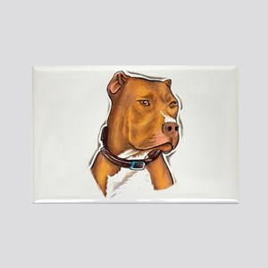 Pit Bull Beauty Rectangle Magnet
