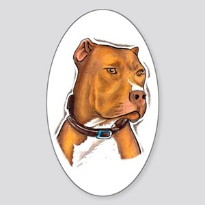 Pit Bull Beauty Oval Sticker