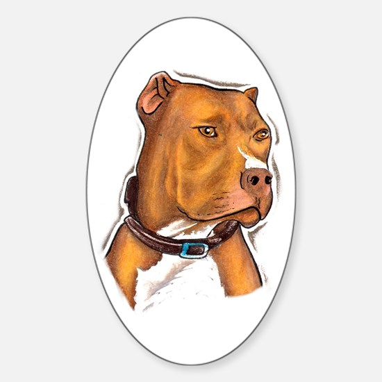 Pit Bull Beauty Oval Decal