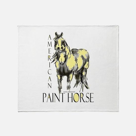 American Paint Horse Throw Blanket