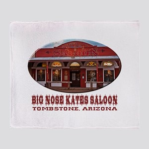 Big Nose Kates Saloon Throw Blanket
